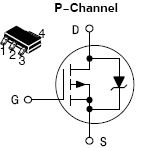NTF6P02T3, Power MOSFET -6.0 Amps, -20 Volts P-Channel SOT-223